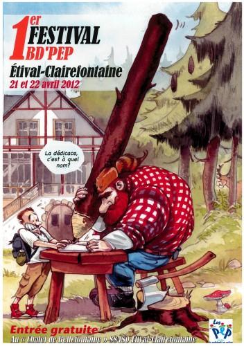 Festival de BD, Vosges, Étival-Clairfontaine, auteurs de BD